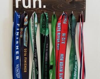 Rustic Running Medal Holder