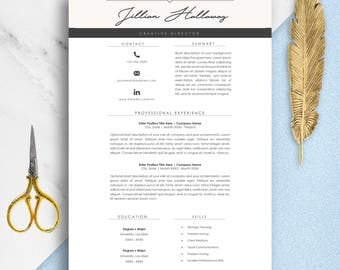 Professional Resume Template | Minimal Resume | Two Page Resume Template Set | Modern Resume Template | Cv Template | Fashion Resume