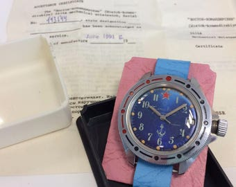 NOS Vostok VREMIR komandirskie watch, 1991, USSR, for export in Italy