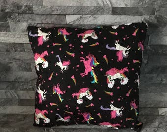Cushion cover, unicorn pillow, unicorn print,  decorative pillow, unicorn gift, unicorn print, bedroom cushion, home decor, gift for her