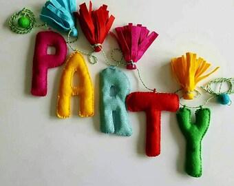 Party garland-party bunting-birthday garland-birthday bunting-celebration-garden garland