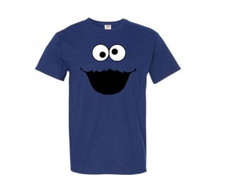Cookie Monster T-Shirt, Kid - Adult, Choice of Color