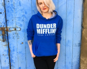 Dunder Mifflin, The US Office | Blue/Grey Contrast Hoodie