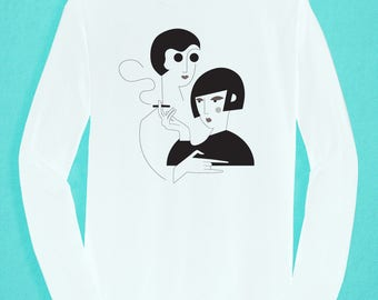 Long Sleeved White T-shirt - Ladies