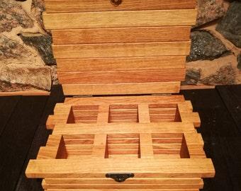 Tea chest/ Tea storage chest/ Wooden tea chest/ Wooden tea organizer box/ Wood centerpiece box/ Custom tea chest/ Wedding tea holder