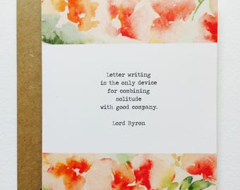 Lord Byron Quote GREETING CARD