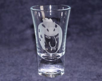 Birdperson etched SHOT GLASS - Rick and Morty - Custom shot glasses for him her girlfriend boyfriend - gift - Novelty present