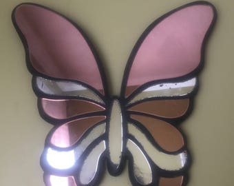 Vintage Butterfly Mirror, Butterfly Shaped Mirror