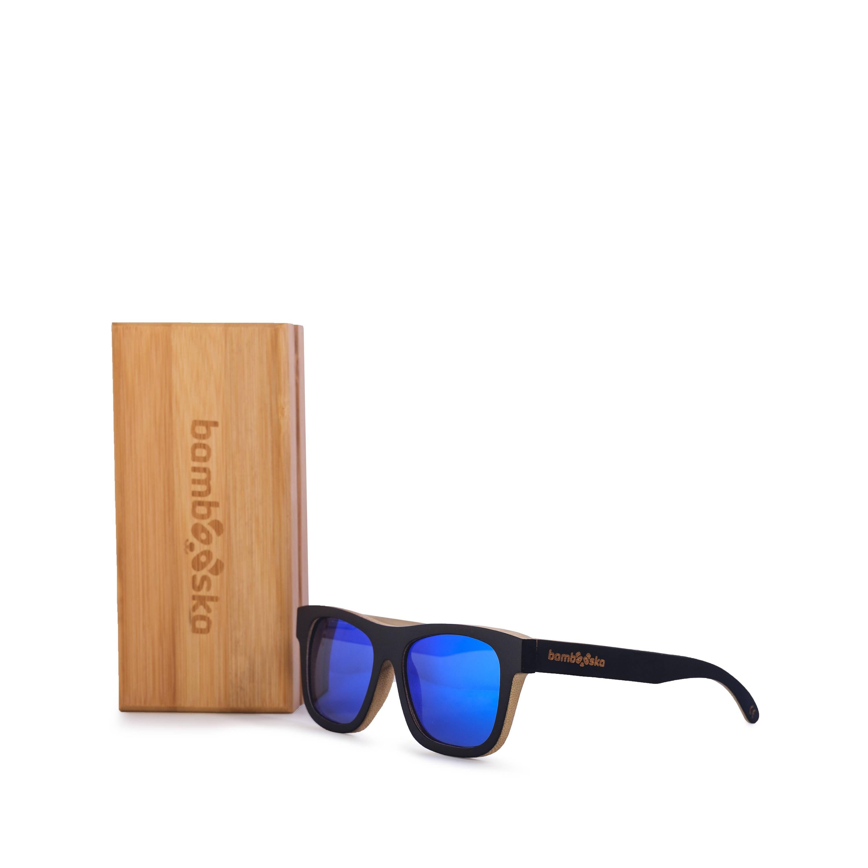 7877d78efd Navy BLUE BAMBOO SUNGLASSES Surfer Wooden Polarized Sunglasses Beach Bamboo  Neutral Style Summer Eyewear Gift Beach