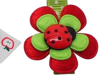 2Pc Hair clips for girls hair bows girls toddler hair clips girls bows kids hair accessories red ladybird flower hair clip small hair bows