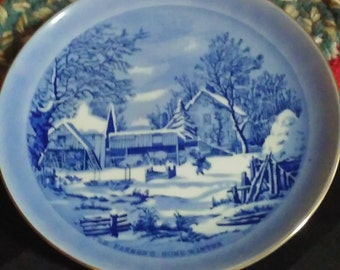 The Farmer's Home - Winter Currier & Ives