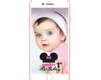 minnie mouse snapchat filter, minnie mouse snapchat, mickey snapchat, kids birthday filter, snapchat geofilter for girls,