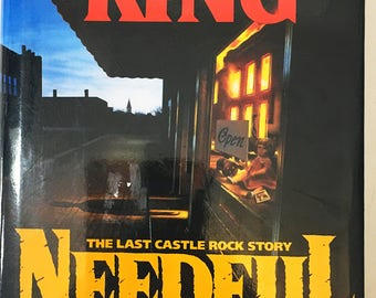 Needful Things by Steven King.  Early edition circa 1991.  Vintage book .  Horror & Literary Fiction.  Gift for book lover.  Collectible