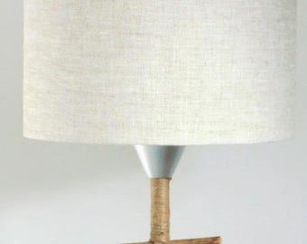 lamp shade linen - cylinder 28 cm - cylindrical - round - handmade - handmade