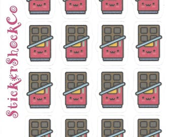 Candy Bar Stickers, Chocolate Bar, Candy Planner Stickers, Candy Planner