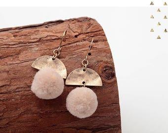 Goldy Pink earrings