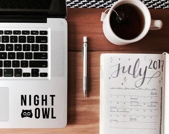 Night Owl - Sticker Decal - Vinyl Decal  - Laptop Decal - Laptop Sticker - Macbook Sticker - Vinyl Sticker - Car Decal - iPad Decal - Gift
