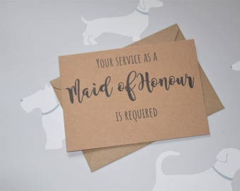 Will you be my, Maid of honour proposal, Maid of honor, Be my maid of honor, Maid of honor gift, Maid of honor card, Matron of honor,