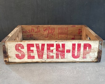 Wooden Seven-Up Antique Soda Crate