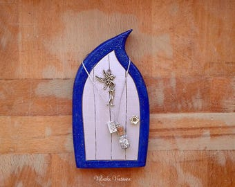 Handmade Fairy Door -  Blue Fairy | Wood Fairy Door | Unique Gift