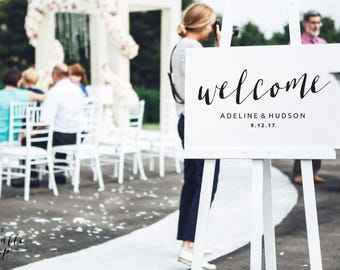 Welcome sign printable 16x20, Welcome sign print, Welcome sign instant download, Welcome sign template, Wedding sign welcome template