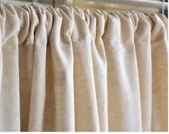 Linen Cotton Curtain   Organic Fabric   Custom Made