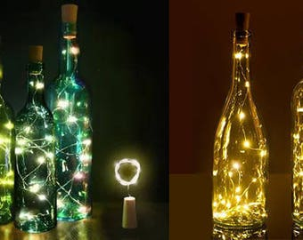 Recycled Wine Bottle Fairy Lights