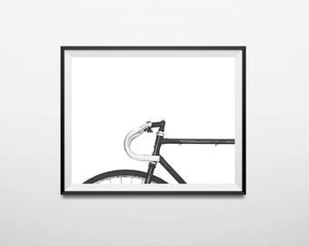 Bike print, bicycle print, bike art, printable art, bike poster, bike wall art, cycling print, scandinavian print, vintage bike print, bike