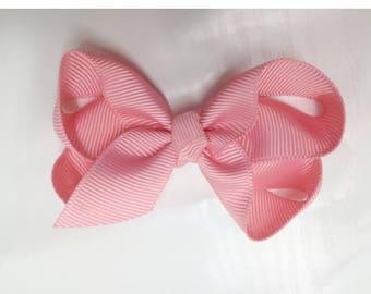 Ribbon-pink girl hair clip girls hair clip