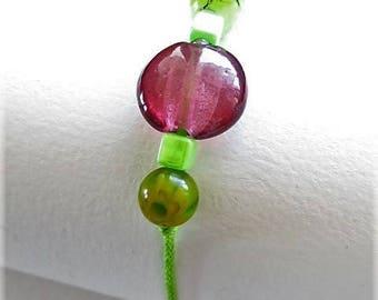 Waxed cotton bracelet 16255