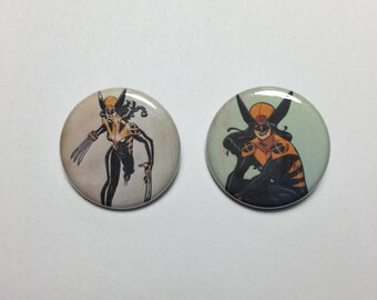 X-23 Wolverine Marvel Button Pin - 2 Pins