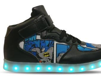 Batman LED Custom Shoes