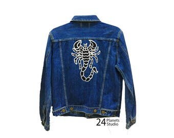 Large Scorpion Large Iron on Patch by 24PlanetsStudio Jacket Patch