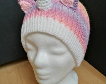 Unicorn cap (pink-yellow gradient)