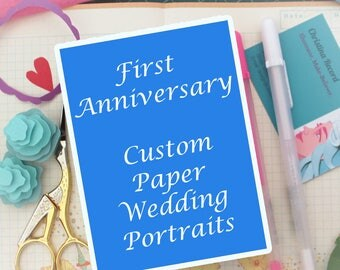 First Anniversary Paper Gift // Paper Anniversary, Custom Wedding Gift, Unique Wedding Gift