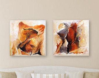 Canvas Art Set, Woman Painting ,Acrylic Painting, Abstract Acrylic, Painting Original, Acrylic Canvas Painting, Red Painting, White Painting