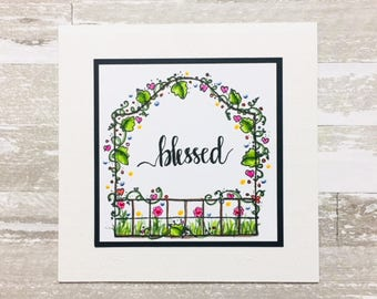 C023 - Hand-lettered Handmade Blessed Card - Friendship Card