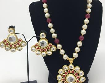 Kundan Jewelry - Indian Jewelry Set - Indian Jewellery - Kundan Necklace - Indian Earrings - Bollywood Jewelry - Pakistani Jewelry - Mala