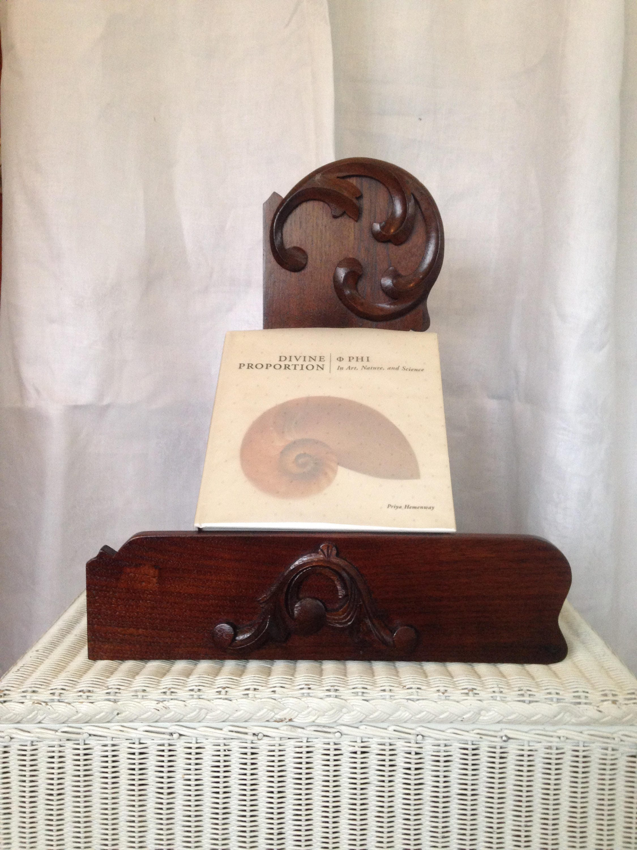 walnut reclaimed wood book holder
