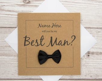 Best Man Card, Will You Be My Best Man Card?, Personalised Wedding Card, Wedding Party Invite, Best Man Proposal Card, Be Our Best Man Card