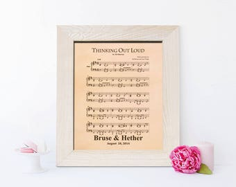 First dance song, Music Notes Sheet, 3rd Wedding anniversary gift leather engraved date picture, gift for men, wife - KA0102