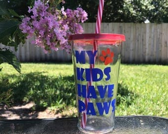 My kids have paws vinyl decal