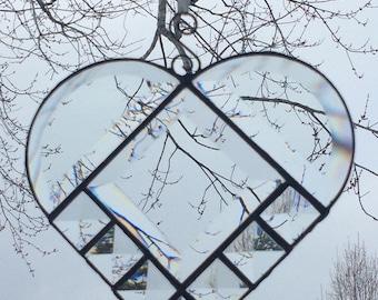 Valentine Beveled Glass Heart