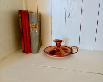 Lighting, Copper Candle Dish, Candleholder, Copper, Vintage CandleHolders, Vintage Lighting