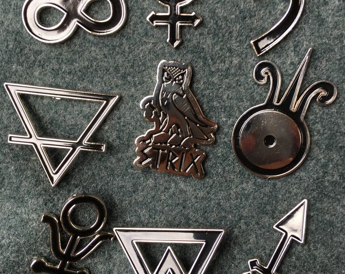 The Great Work: 9 Alchemical Pins Set