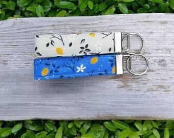 Lemon key fob | daisy floral | key fob | key lanyard