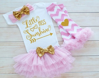 Baby Girl Shirt, Little Miss Sunshine Bodysuit, Coming Home Girl Shirt, Baby Girl Outfit, Baby Coming Home Outfit, Baby Shower Gift, Cute