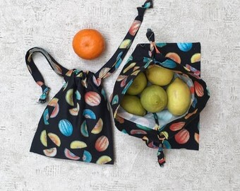 printed smallbags colorful watermelon - 2 sizes - reusable cotton bag - zero waste