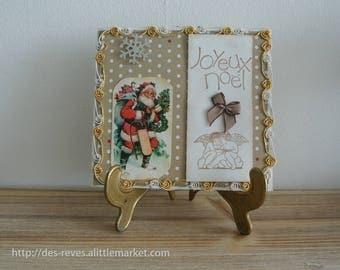 Christmas card - Merry Christmas and Santa Claus