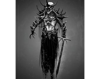 Shadow Knight - Signed A3 Print